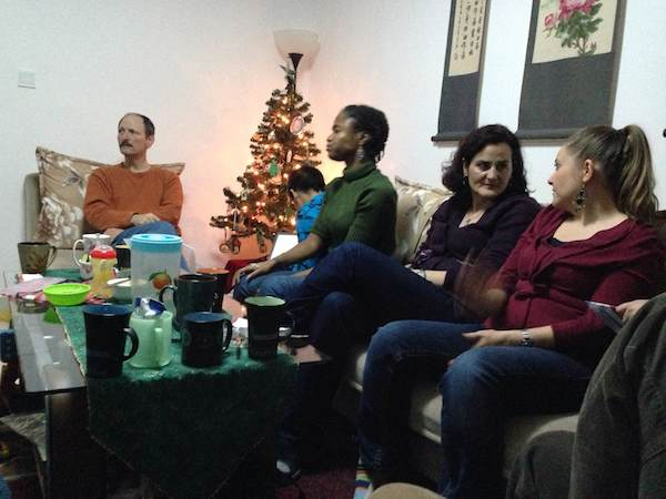 And we celebrated Christmas night with some new friends.